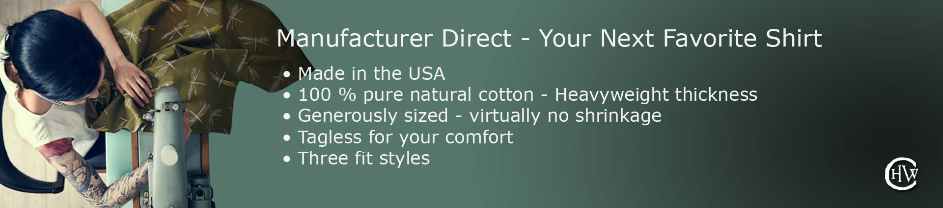 Manufacture Direct Men's T-Shirts. Made in the USA, Save by eliminating the middle man.