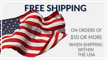 Get Free Shipping on your order of $50 or more when shipping within the USA