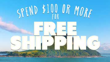 Free Shipping on all domestic orders of $100 or more.