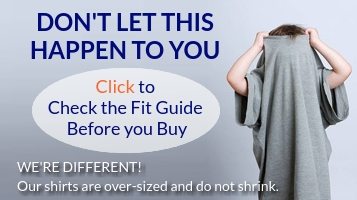 Check The Fit Charts to make sure you are getting the right size the first time. We're Different!