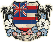 Decals: Hawaiian Flag Emblem