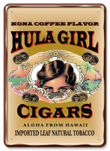 Tin Postcards - Cigar Hula Girl Store