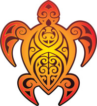 Hawaiian Tribal Turtle Decal