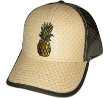 Pineapple Embroidered Trucker Cap