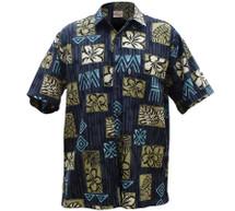 Hibiscus Tapa Aloha Shirt