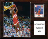 "NBA 12""x15"" Dominique Wilkins Atlanta Hawks Player Plaque"