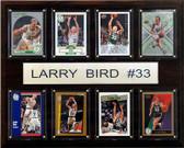 "NBA 12""x15"" Larry Bird Boston Celtics 8 Card Plaque"