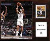 "NBA 12""x15"" Deron Williams Brooklyn Nets Player Plaque"