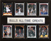 """NBA 12""""x15"""" Chicago Bulls All-Time Greats Plaque"""