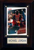 "NBA 4""x6"" Michael Jordan Chicago Bulls Player Plaque"