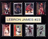 "NBA 12""x15"" LeBron James Cleveland Cavaliers 8-Card Plaque"