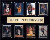 "NBA 12""x15"" Stephen Curry Golden State Warriors 8-Card Plaque"