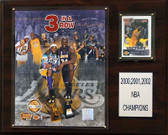 "NBA 12""x15"" Los Angeles Lakers 2000-2002 NBA Championships Plaque"