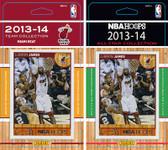 NBA Miami Heat Licensed 2013-14 Hoops Team Set Plus 2013-24 Hoops All-Star Set