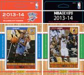NBA Oklahoma City Thunder Licensed 2013-14 Hoops Team Set Plus 2013-24 Hoops All-Star Set