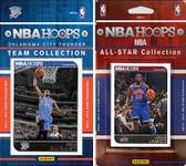 NBA Oklahoma City Thunder Licensed 2014-15 Hoops Team Set Plus 2014-15 Hoops All-Star Set