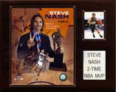 "NBA 12""x15"" Steve Nash 2 Time NBA MVP Phoenix Suns Player Plaque"