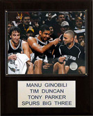 "NBA 12""x15"" Ginobili-Duncan-Parker San Antonio Spurs Player Plaque"