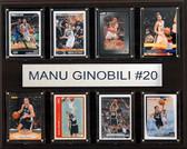 "NBA 12""x15"" Manu Ginobili San Antonio Spurs 8-Card Plaque"