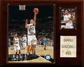"NBA 12""x15"" Manu Ginobili San Antonio Spurs Player Plaque"