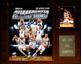 "NBA 12""x15"" San Antonio Spurs 2013-2014 NBA Champions Plaque"