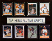 "NCAA Basketball 12""x15"" North Carolina Tar Heels All-Time Greats Plaque"