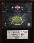 "NCAA Football 12""x15"" Alabama Crimson Tide 2011 BCS National Champions Plaque"
