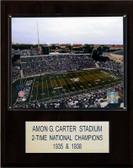 """NCAA Football 12""""x15"""" Amon G. Carter Stadium Stadium Plaque"""