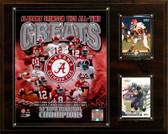 "NCAA Football 12""x15"" Alabama Crimson Tide All-Time Greats Photo Plaque"