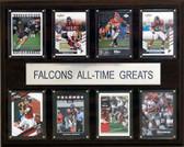 """NFL 12""""x15"""" Atlanta Falcons All-Time Greats Plaque"""