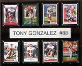 """NFL 12""""x15"""" Tony Gonzalez Atlanta Falcons 8-Card Plaque"""