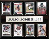 """NFL 12""""x15"""" Julio Jones Atlanta Falcons 8-Card Plaque"""