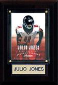 """NFL 4""""x6"""" Julio Jones Atlanta Falcons Player Plaque"""