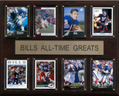 "NFL 12""x15"" Buffalo Bills All-Time Greats Plaque"