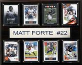 "NFL 12""x15"" Matt Forte Chicago Bears 8-Card Plaque"