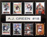 """NFL 12""""x15"""" A.J. Green Cincinnati Bengals 8-Card Plaque"""