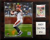 """NFL 12""""x15"""" Andy Dalton Cincinnati Bengals Player Plaque"""