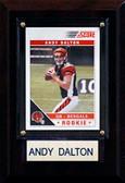 """NFL 4""""x6"""" Andy Dalton Cincinnati Bengals Player Plaque"""