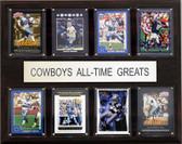 "NFL 12""x15"" Dallas Cowboys All-Time Greats Plaque"