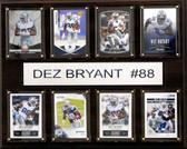 """NFL 12""""x15"""" Dez Bryant Dallas Cowboys 8-Card Plaque"""