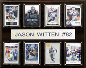 """NFL 12""""x15"""" Jason Witten Dallas Cowboys 8-Card Plaque"""
