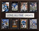 """NFL 12""""x15"""" Detroit Lions All-Time Greats Plaque"""