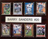 """NFL 12""""x15"""" Barry Sanders Detroit Lions 8 Card Plaque"""