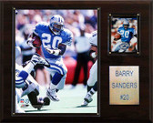 """NFL 12""""x15"""" Barry Sanders Detroit Lions Player Plaque"""