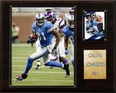"""NFL 12""""x15"""" Calvin Johnson Detroit Lions Player Plaque"""