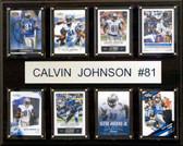 """NFL 12""""x15"""" Calvin Johnson Detroit Lions 8-Card Plaque"""