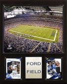 "NFL 12""x15"" Ford Field Stadium Plaque"