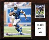 """NFL 12""""x15"""" Reggie Bush Detroit Lions Player Plaque"""