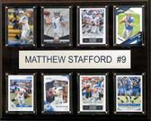 "NFL 12""x15"" Matthew Stafford Detroit Lions 8-Card Plaque"