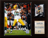 """NFL 12""""x15"""" Aaron Rodgers Green Bay Packers Player Plaque"""